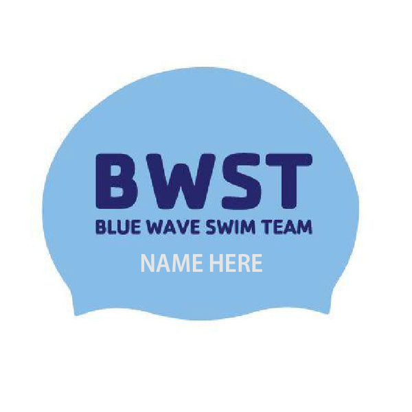 Blue Wave Swim Team Personalized Caps