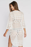 White| Jordan Taylor Hi-Low Lace-up Tunic