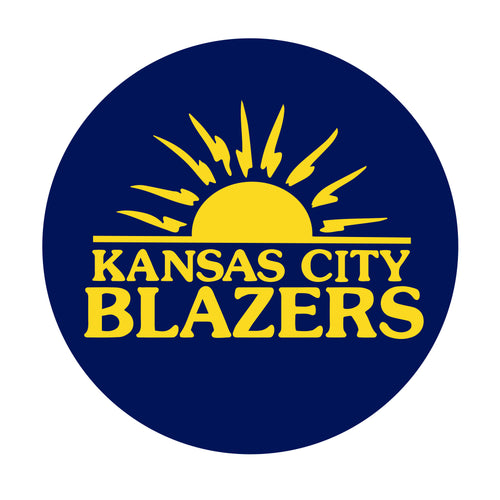 KC Blazers Circle Car Magnet