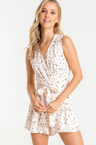 Spotted Cream & Black Romper