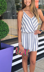 Striped Skorted Romper
