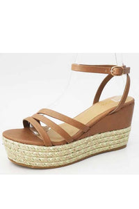 Tan Wedge Sandal