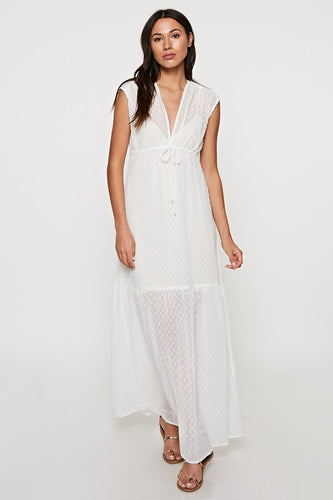 Ivory Dotted Maxi Dress