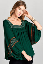 Embroidered Batwing Tunic