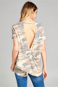 Open Back Camo Top