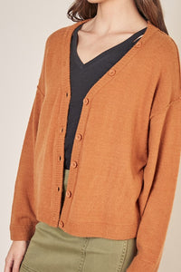 Pumpkin Oversized Cardigan