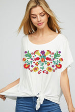 Graphic Floral Knit Top- 2 colors