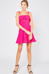 Tie Strap Summer Dress- Hot Pink or Lime