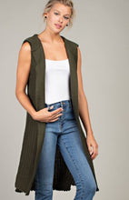 Hooded Cardigan Sweater Vest- 3 Colors
