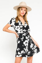 Black White Floral Dress