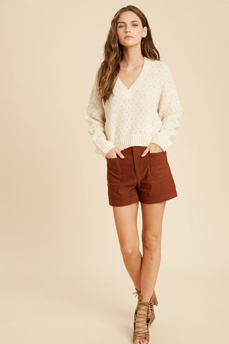 Fall Woven Shorts- 3 Colors Choices