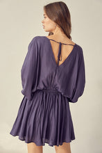 Wide Sleeve Dress-Midnight or Truffle