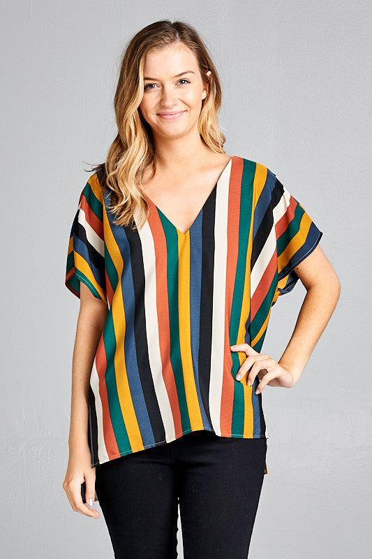 Fall Multi Striped Top