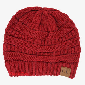 Beanie Red, Burgundy, Mustard or Purple