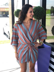 Striped Kimono Dress