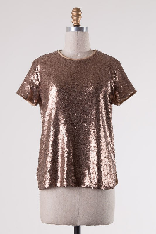 Bronze Sequin Top