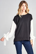 Black White Terry Top
