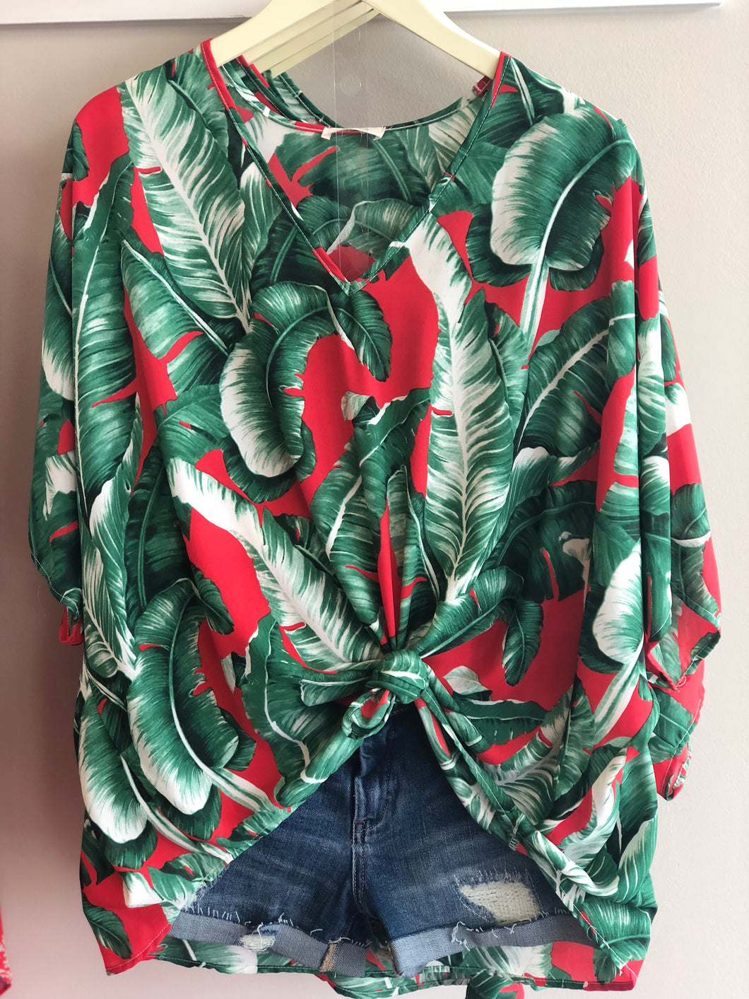 Red Green Palm Tunic