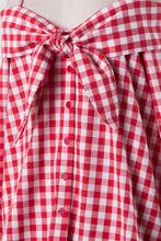 Red White Gingham Off Shoulder