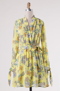 Yellow Vintage Floral Dress
