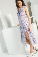 Striped Romper with Skirt