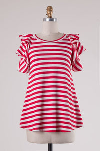 Red White Striped Tee