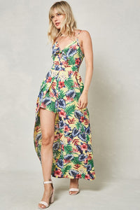 Yellow Tropical Romper Maxi