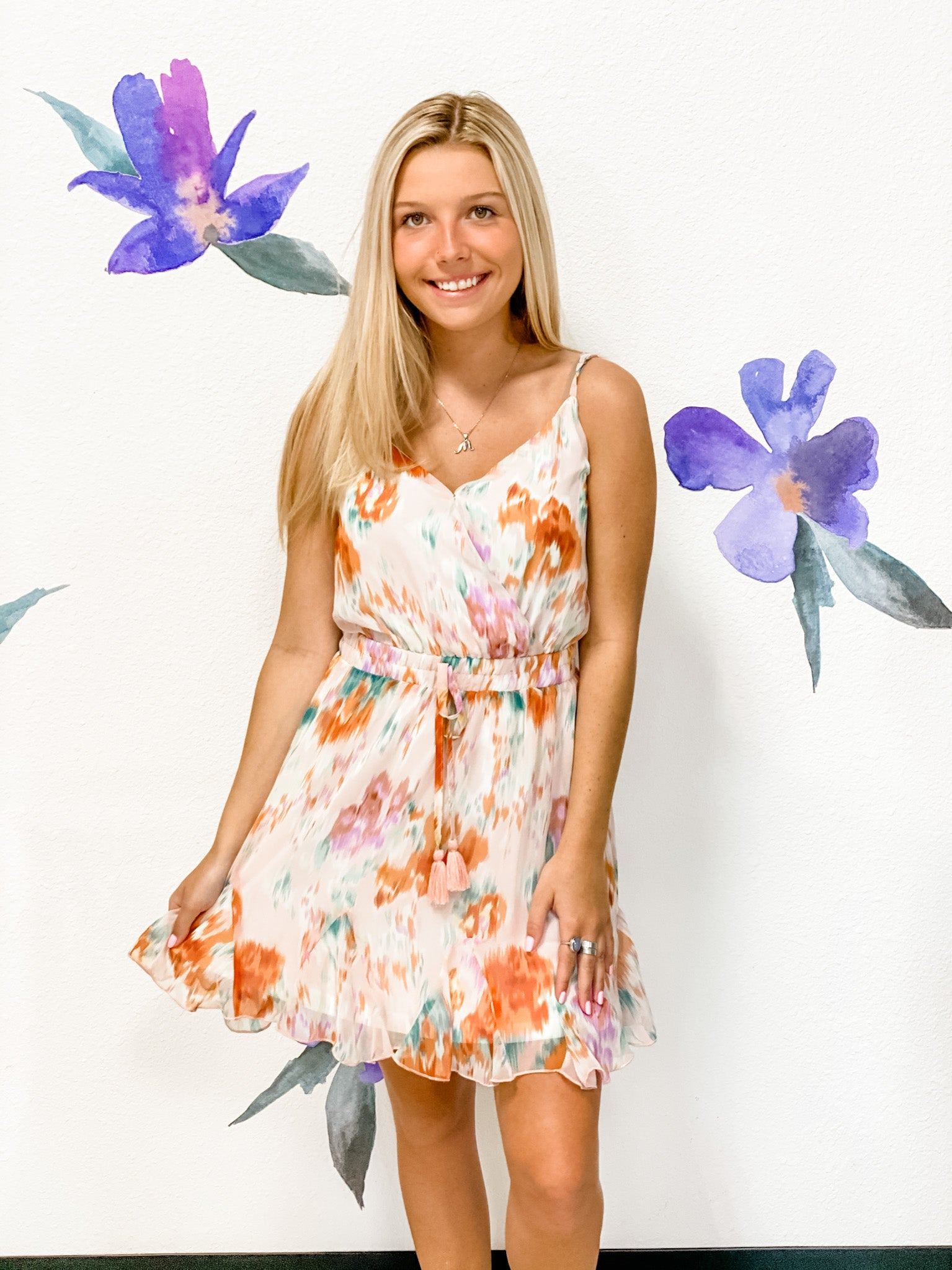 Blush Floral Sundress