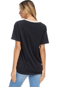 LOVE Black Graphic Tee