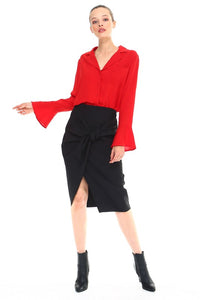 Bell Sleeve Red Top