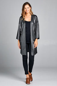 Black Metallic Cardigan