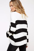 Striped Sweater- Red, Black, or Green