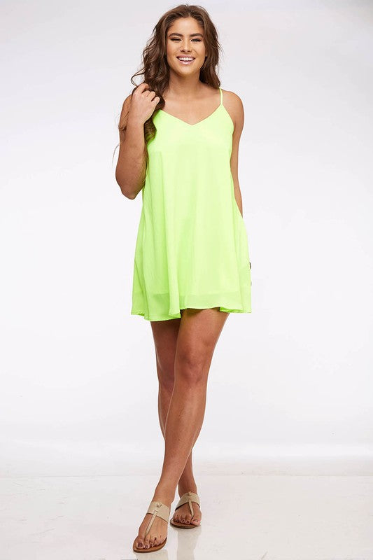 Neon Lime Swing Dress
