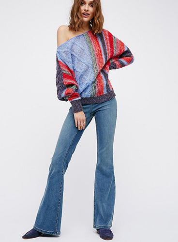Penny Pull On Flare Jeans