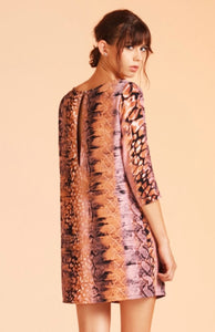 Pink Animal Print Shift