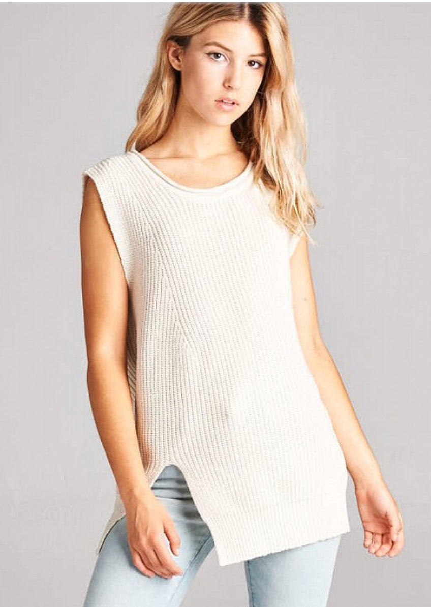 Sleeveless Sweater Top