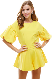 Canary Yellow Romper