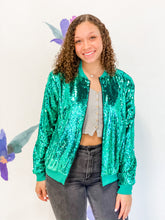 Sequin Bomber Jacket- Green or Pink