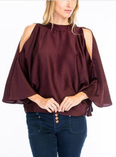 Batwing Satin Top