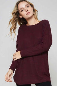 Burgundy Twist Back Top