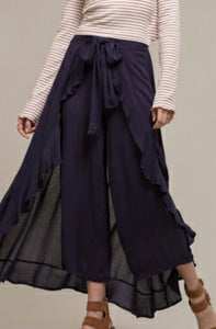 Navy Wrap Pants