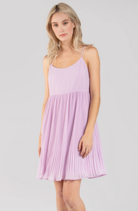 Lavender Pleated Dress