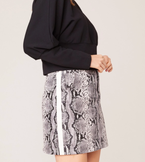 Python the Prowl Vegan Leather Skirt