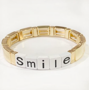 Words Enamel Stretch Bracelets