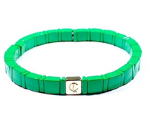Tiny Tile Enamel Bracelets- Multiple Color Options