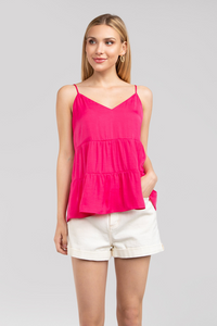 Pink Sorbet Tiered Cami