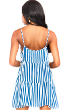 Caroline Stripe Mini Dress