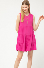 Go To Tiered Dress - Royal Blue or Hot Pink