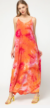 Pink & Orange Tie Dyed Maxi