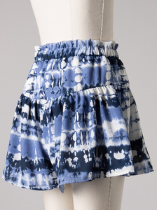 ABSTRACT PRINT HIGH WAIST SHORTS